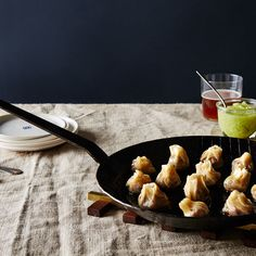 Lamb Dumplings with Cucumber Vinegar Dipping Sauce