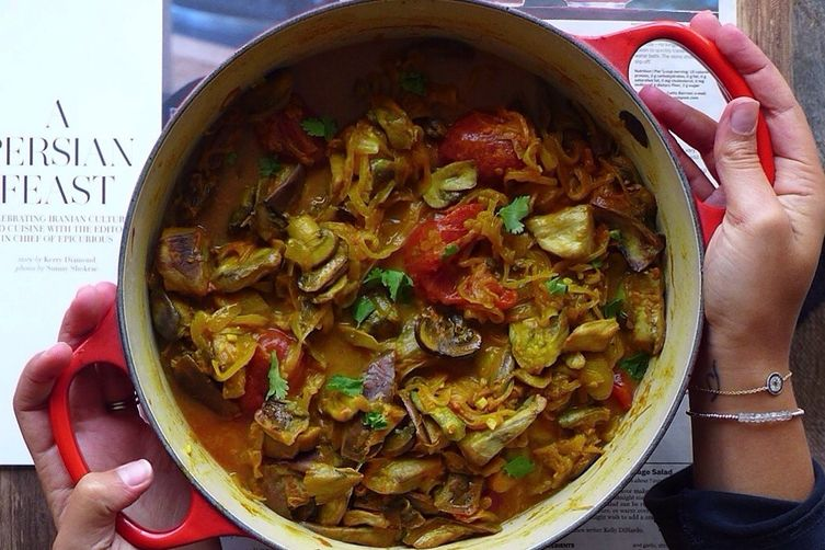 Persian Eggplant Stew // Khoresh Bademjan