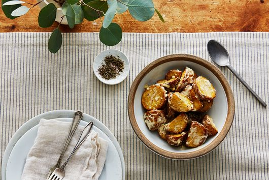 Garlicky Roasted Potato Salad