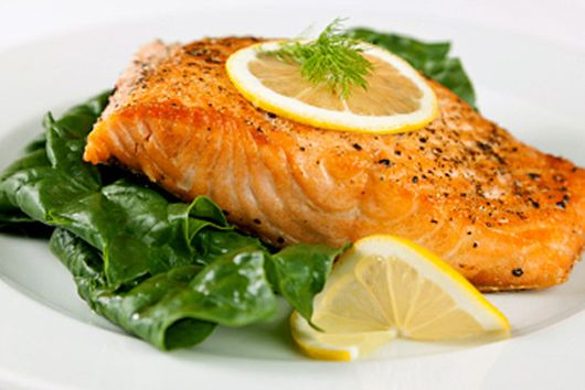 Pan-Seared Salmon with Wilted Greens