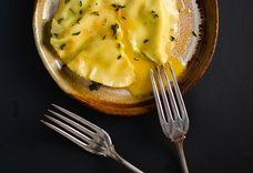 Handmade Spinach & Egg Yolk Ravioli