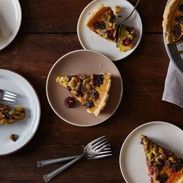 Pistachio-Blackberry Pie