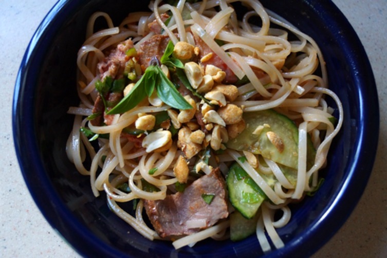Fiery Beef and Rice Noodle Salad