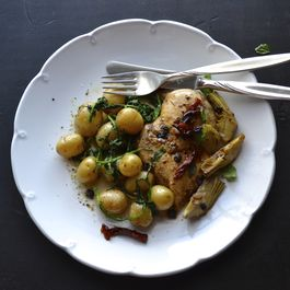 Roasted Balsamic Chicken with Artichoke