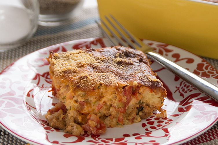 Savory Breakfast Bread Pudding