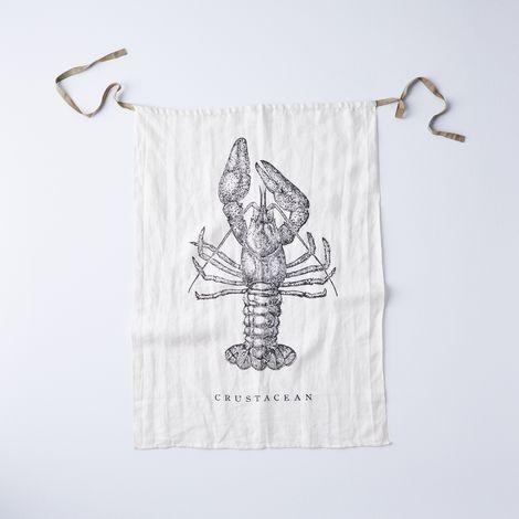 Linen Crustacean Bib