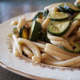 Zucchini and Miso Whole wheat pasta