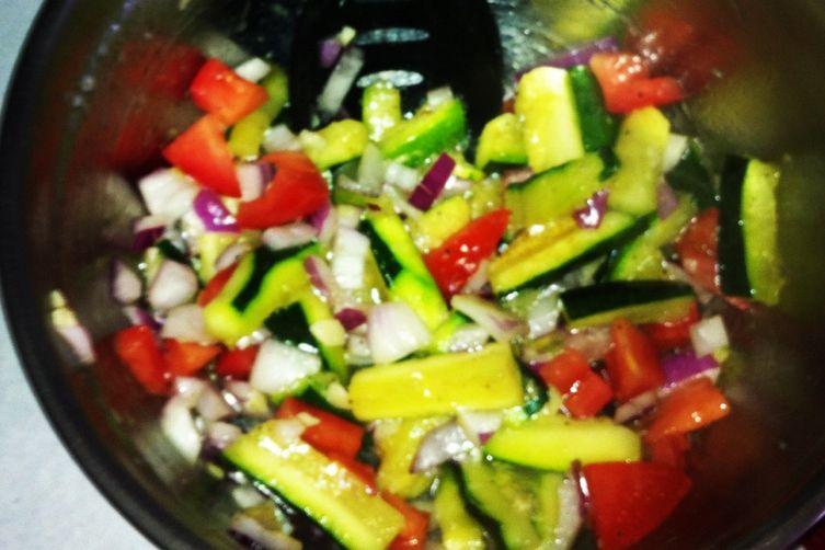 Sauteed Zucchini Salad