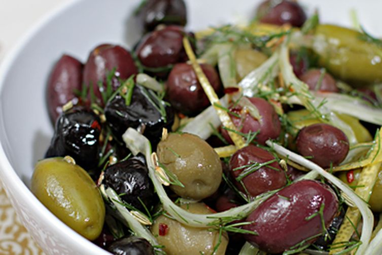 Marinated olives with fennel, lemon and chili pepper Recipe on Food52