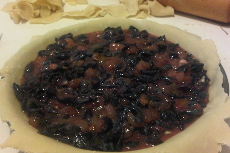 Concord Grape Pie with Walnuts and Orange Zest