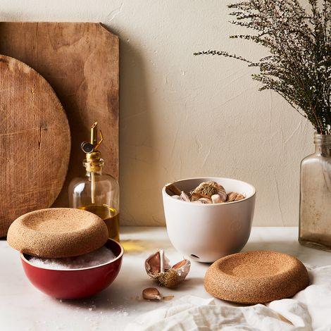 Emile Henry French Ceramic Garlic Pot