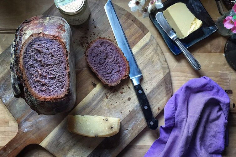 Rye Bread with Purple Carrots