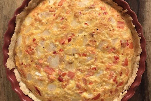 Chive Butter Crust Quiche
