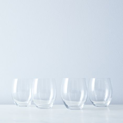 Italian Stemless Wine Glasses (Set of 4)