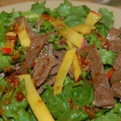 Flank Steak and Mango Salad