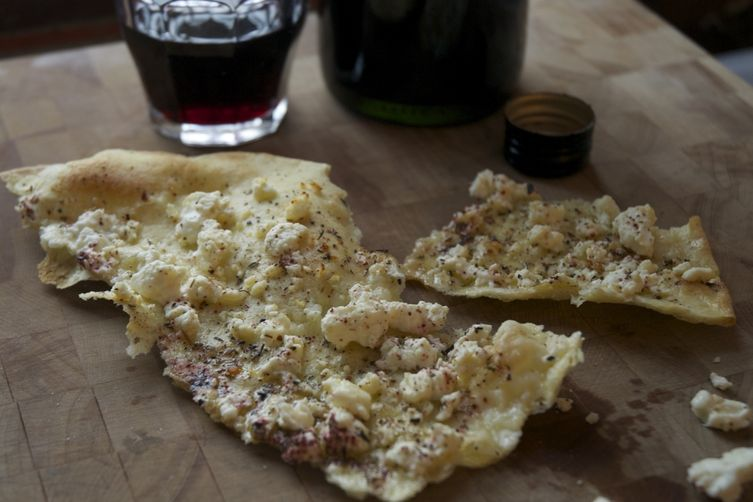 Sardinian Flatbread with Feta and Za' Atar