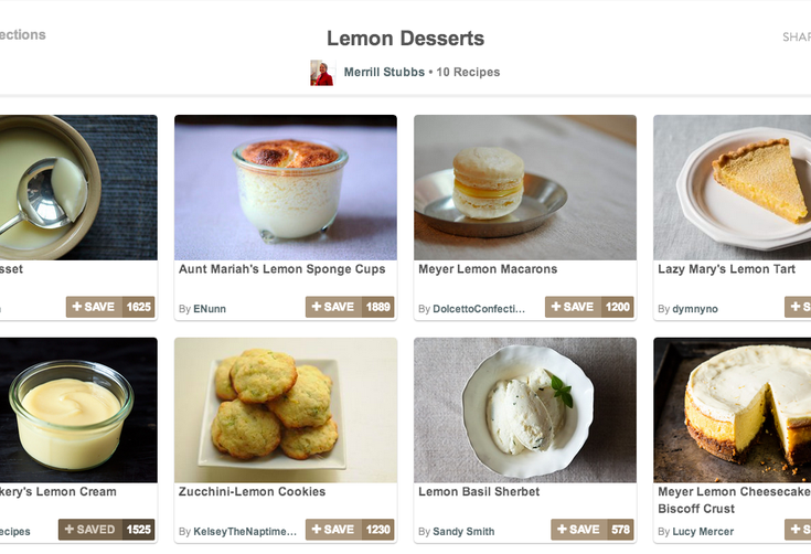 Recipe Collections on Food52