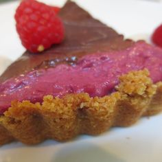 Chocolate Ganache Raspberry Cream Tart