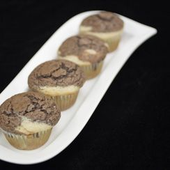 Brown and White Marbled Muffins