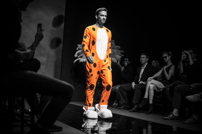 The Cheetos onesie. Stunning.