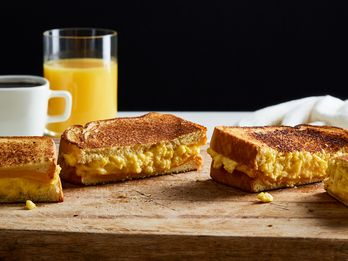 Breakfast Sandwiches Are Extra-Gooey-Cheesy in Genius Land