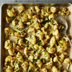 Roasted Cauliflower with Cumin and Cilantro