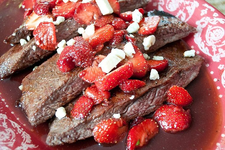 Strawberry-Balsamic Flank Steak