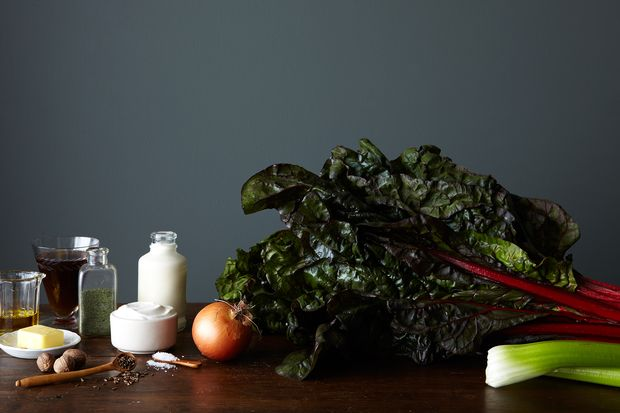 Red Chard with Festive Spices