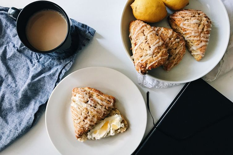 date + lemon scones