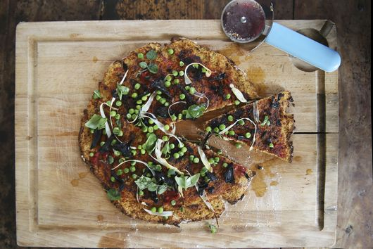 Gluten free Spring Pizza with Cauliflower Base