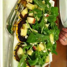 Arugula, Delicata, and Honeycrisp Salad