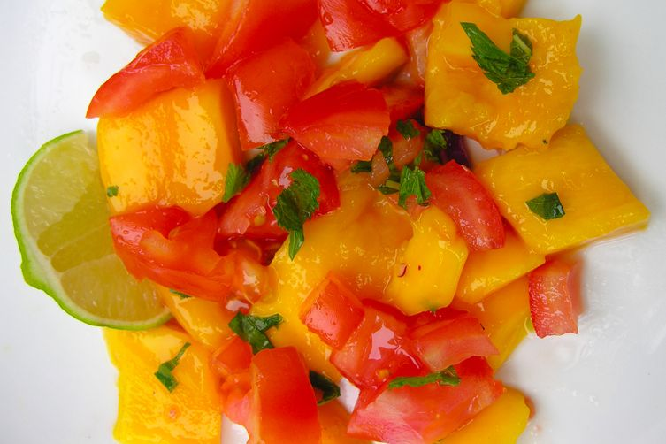 Simplified Mango and Tomato Salad