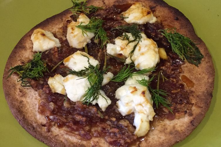 Goat Cheese and Date Flatbreads