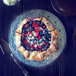 Rustic Mulberry & Strawberry Galette