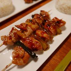 Japanese Style Chicken and Leek Skewers