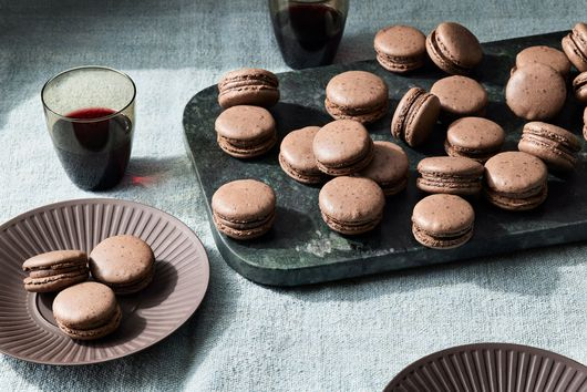 Double-Chocolate French Macarons