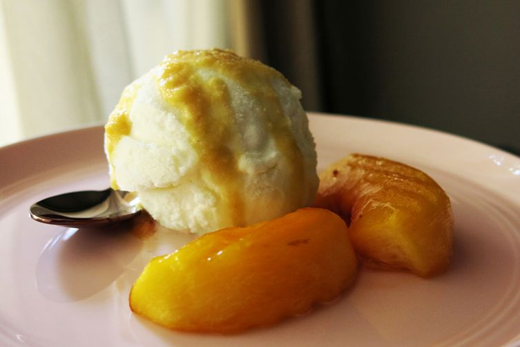 Milk Ice Cream & Grilled Honey Peach