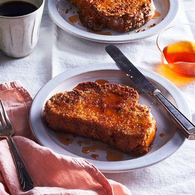 Crispy-Fried French Toast with Hot Sauce Honey