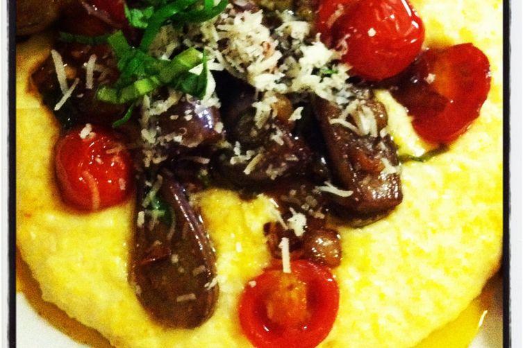 Fairy Tale Eggplant Saute with Polenta