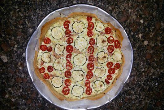 Zucchini and ricotta pie