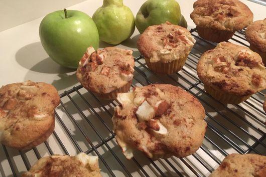 Apple-Pear Cinnamon-Maple Muffins (GF)