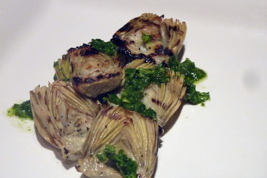 Grilled Baby Artichokes with Mint Chimichurri