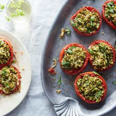 Moroccan Stuffed Tomatoes