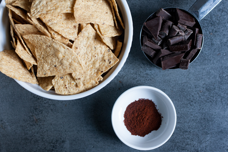 Spicy Chocolate-Covered Tortilla Chips