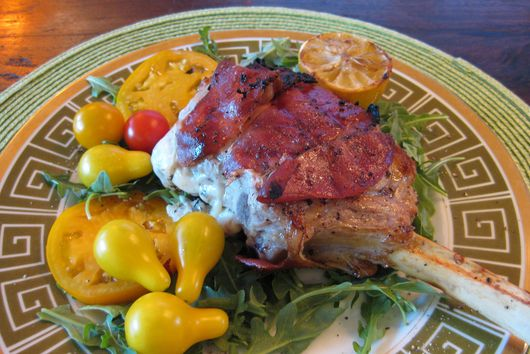 Veal Chops with Mozzerella, Sage & Proscuitto