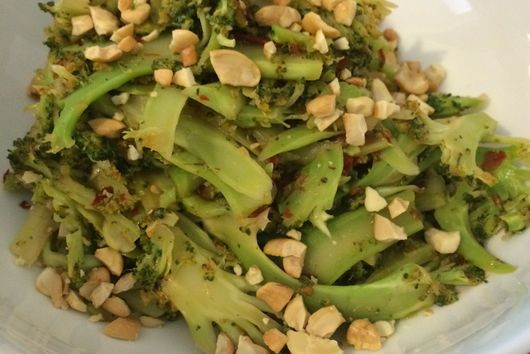 Spicy Shaved Asian Broccoli