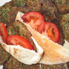 Parsely Fritatta Pita Sandwiches ( Ejjeh Bakdounez)