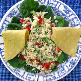Crab Salad with Radishes, Jicama, and Jalapenos