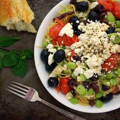 Greek Pasta with Lima Beans and Mint-Infused Olive Oil