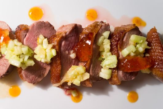 Duck Breast with Chipotle-Lime Cucumber Relish
